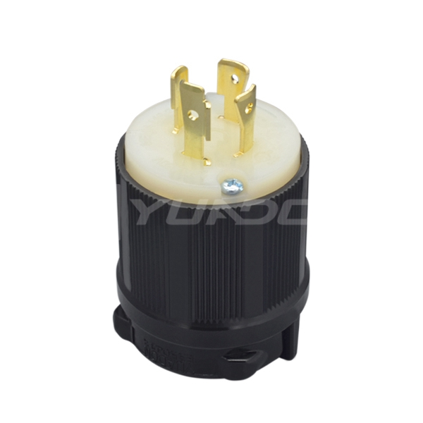 NEMA L16-20P美标发电机防松工业插头20A 480V美式三相四线插头