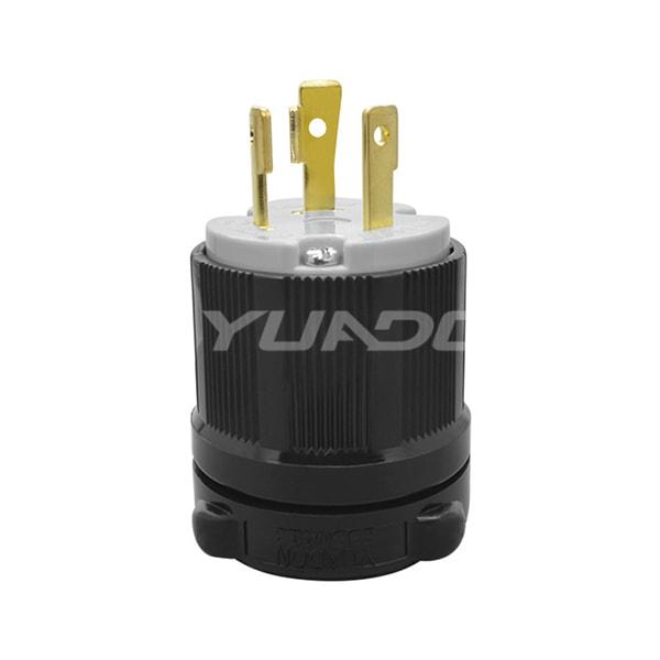 30A 250V, 2P 3W UL Listed Generator Power Locking NEMA L6-30P Twist-Lock Plug 02