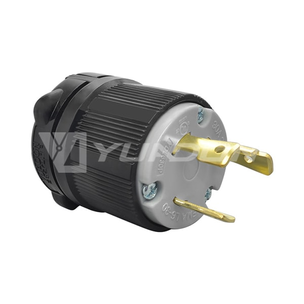 30A 250V, 2P 3W UL Listed Generator Power Locking NEMA L6-30P Twist-Lock Plug 04
